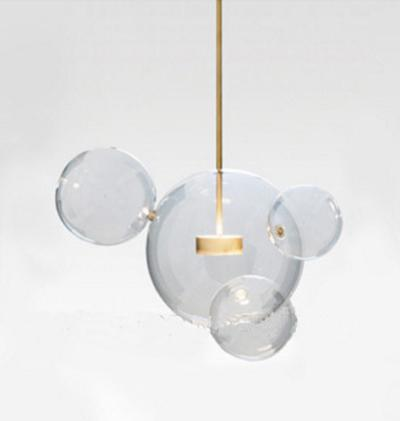 Clear Glass Ball Futuristic Chandeliers Art Deco Pendant Lamp at Lifeix Design