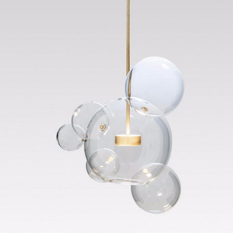 Clear Glass Ball living Futuristic Chandeliers Art Deco Pendant Lamp at Lifeix Design