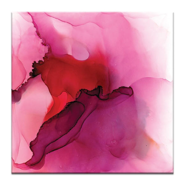 "Artwork 16x16x1.5"" Cloudy with a Chance of Pink Artwork by Donna Weathers"