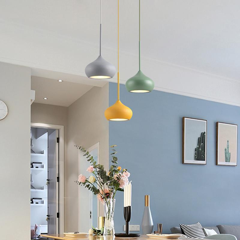 Colorful Dome Shaped Lampshade LED Pendant Lights at Lifeix Design