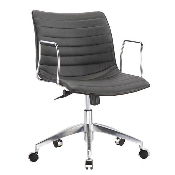 Black Comfy Office Chair Mid Back