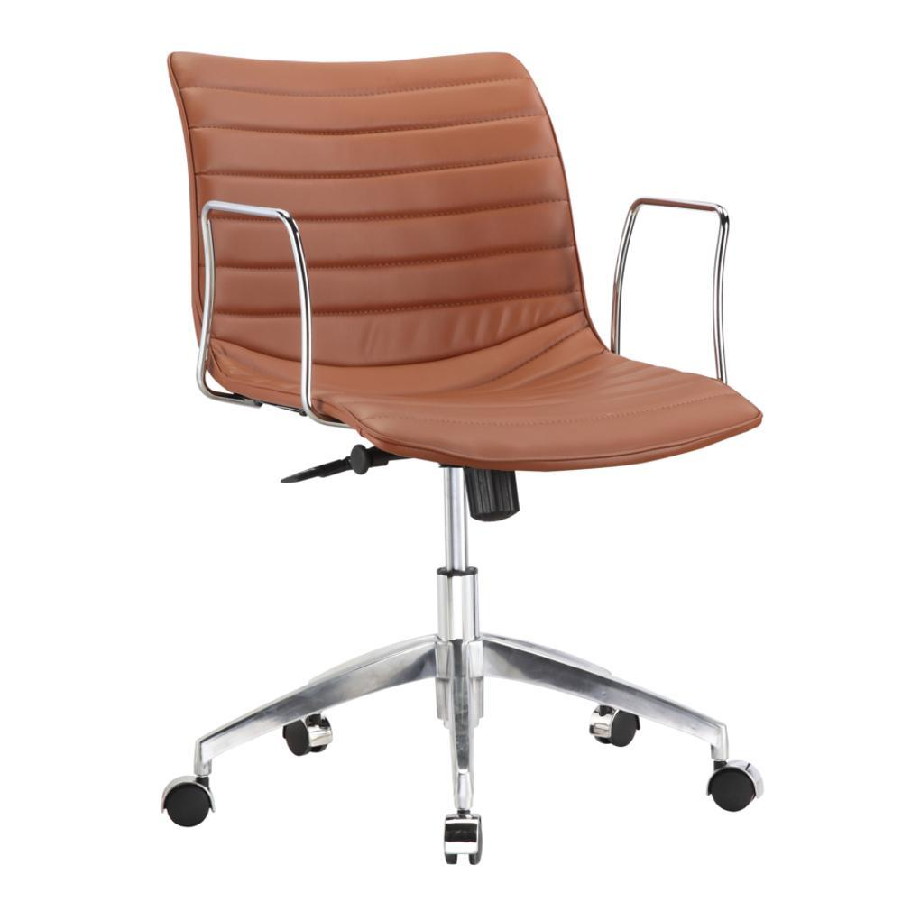 Light Brown Comfy Office Chair Mid Back