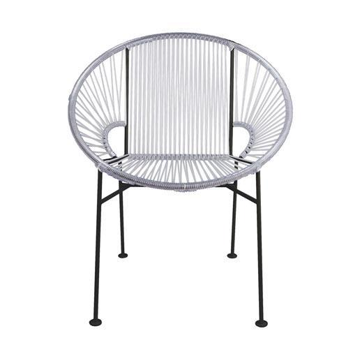 Dining Chairs Clear Weave on Black Frame Concha Chair on Black Frame