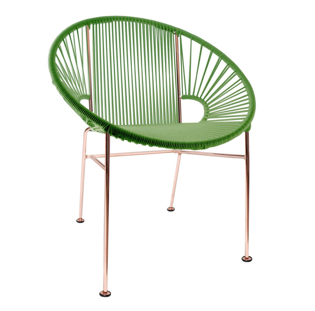 Dining Chairs Cactus Weave on Copper Frame Concha Chair on Copper Frame