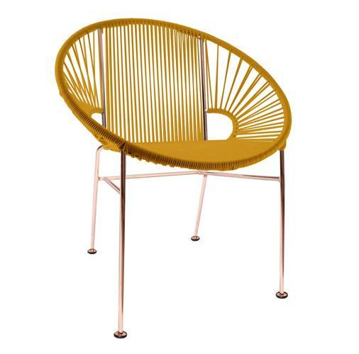Genial ... Dining Chairs Caramel Weave On Copper Frame Concha Chair On Copper  Frame ...