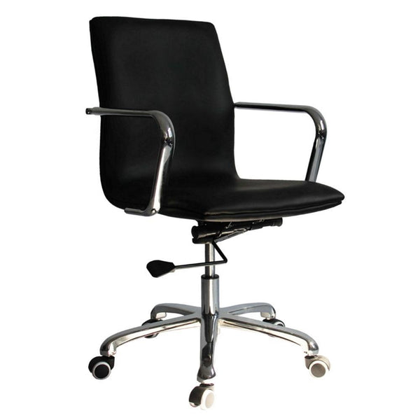 Black Confreto Conference Office Chair Mid Back