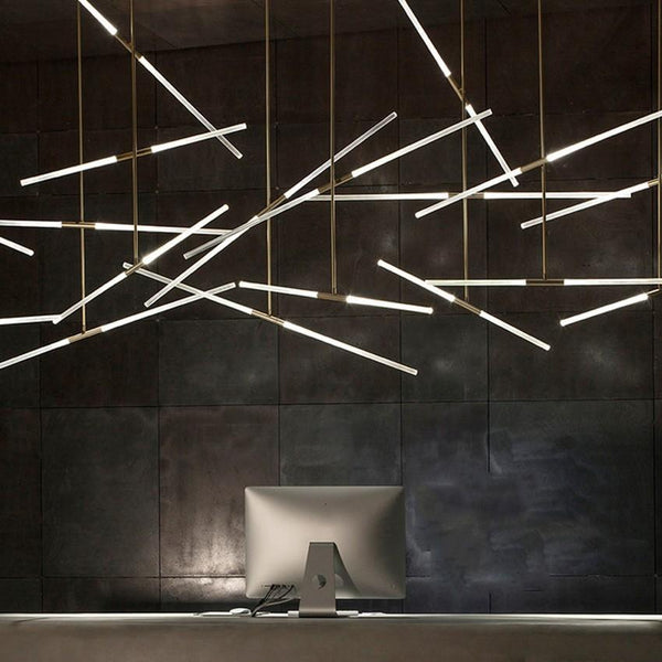 Creative Modern Pendant Light - Two Sided Hanging Light Fixture at Lifeix Design