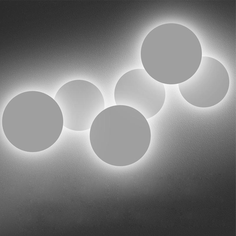 Creative White Circle Lights - Minimalistic Modern Wall LED Lamp at Lifeix Design