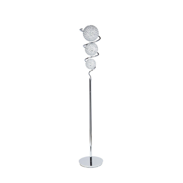 Crsystal Spheres- 3 dome Floor Lamp