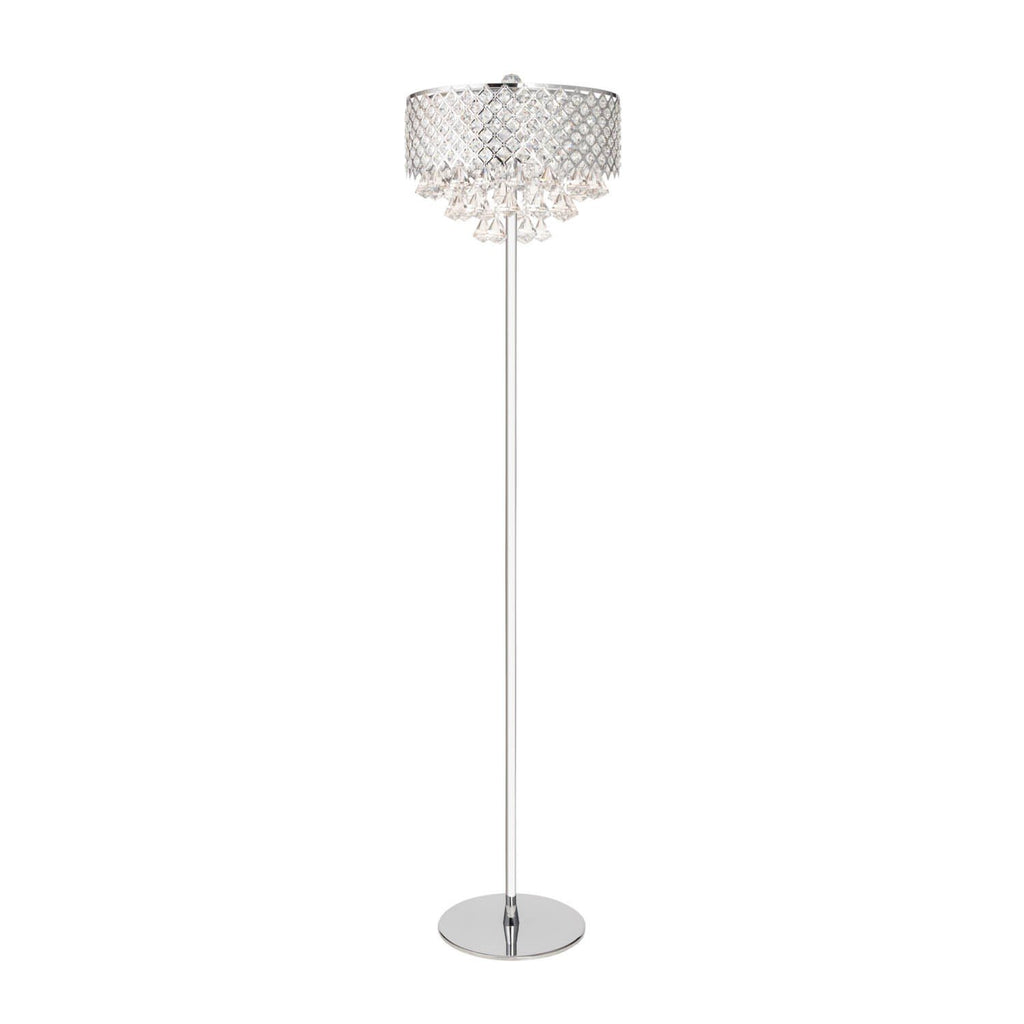 Crysral Encased- Chrome Finish Floor Lamp