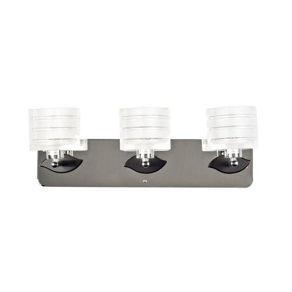 Crystal and Lines Shades- 3 Light Vanity