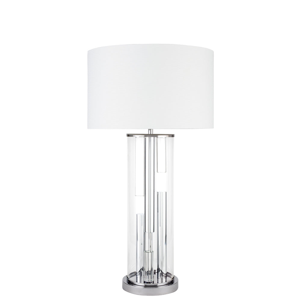 Crystal Cylinder- 3 brightness Settings- Table Lamp