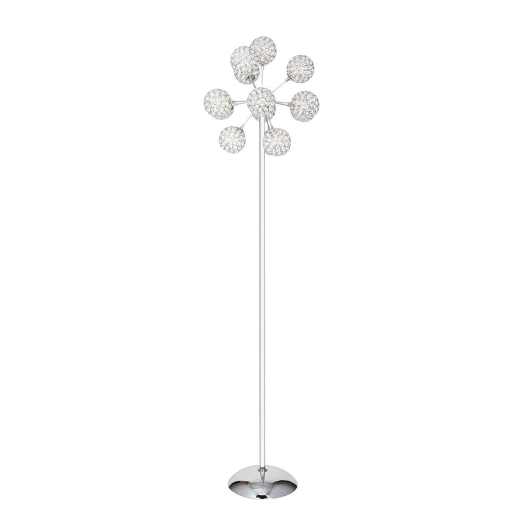 Crystal Cylinders - 13 Domes- Floor Lamp