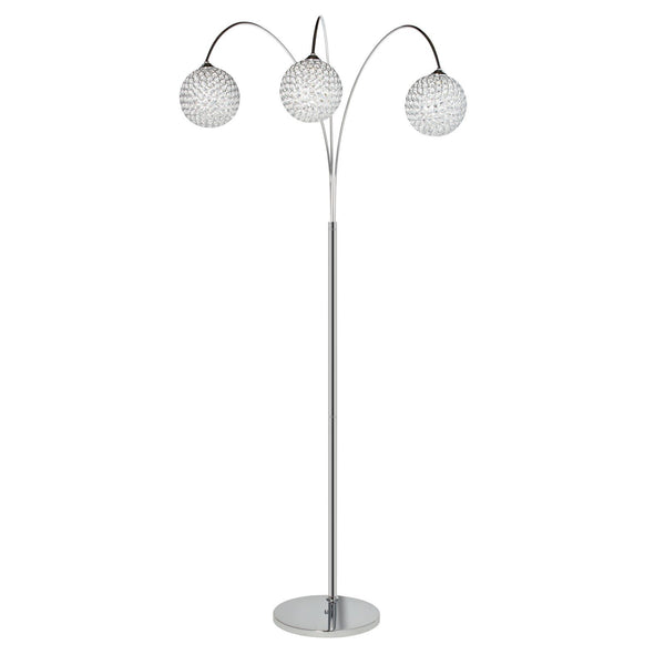 Crystal Domes- 3 pendant Floor Lamp