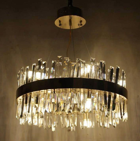 Crystal Glass Rod Pendant Light - Post-Modern Reflective Lamp at Lifeix Design