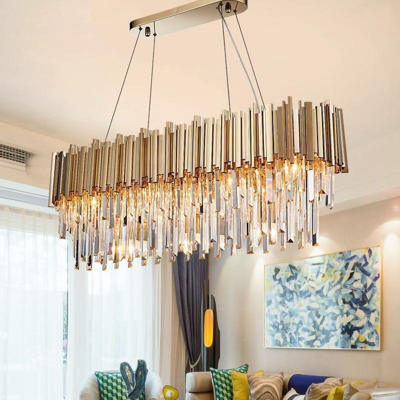 luxurious lighting. Crystal \u0026 Gold Long Chandelier - Luxurious Lighting Decor For Home/Hotel At Lifeix Design N