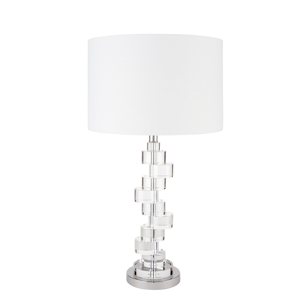 Crystal Stepping Stones- 3 Brightness Settings- Table Lamp