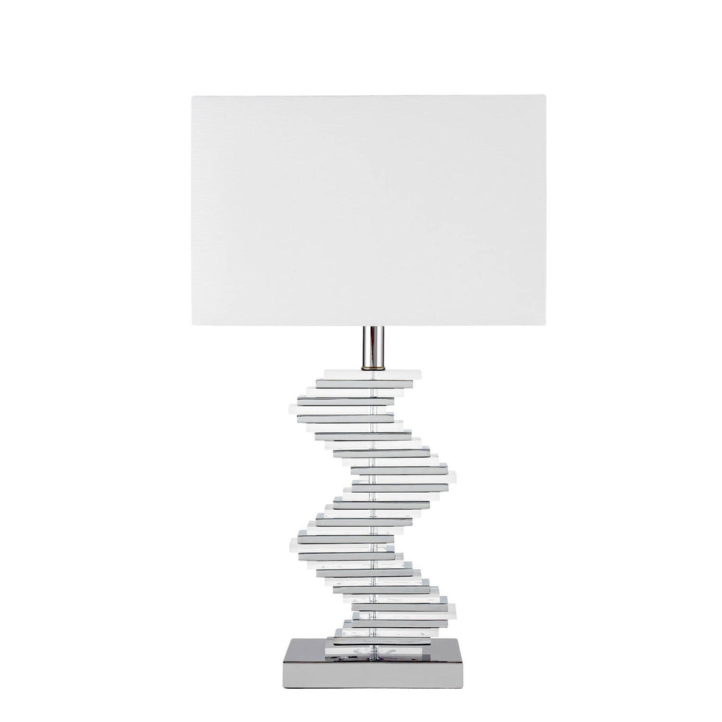 Crystal Two Tone Paved- 3 Brightness Settings- Table Lamp