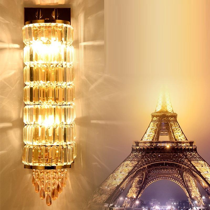 Crystal Wall Lamp - European Long Crystal Strip Wall Light at Lifeix Design