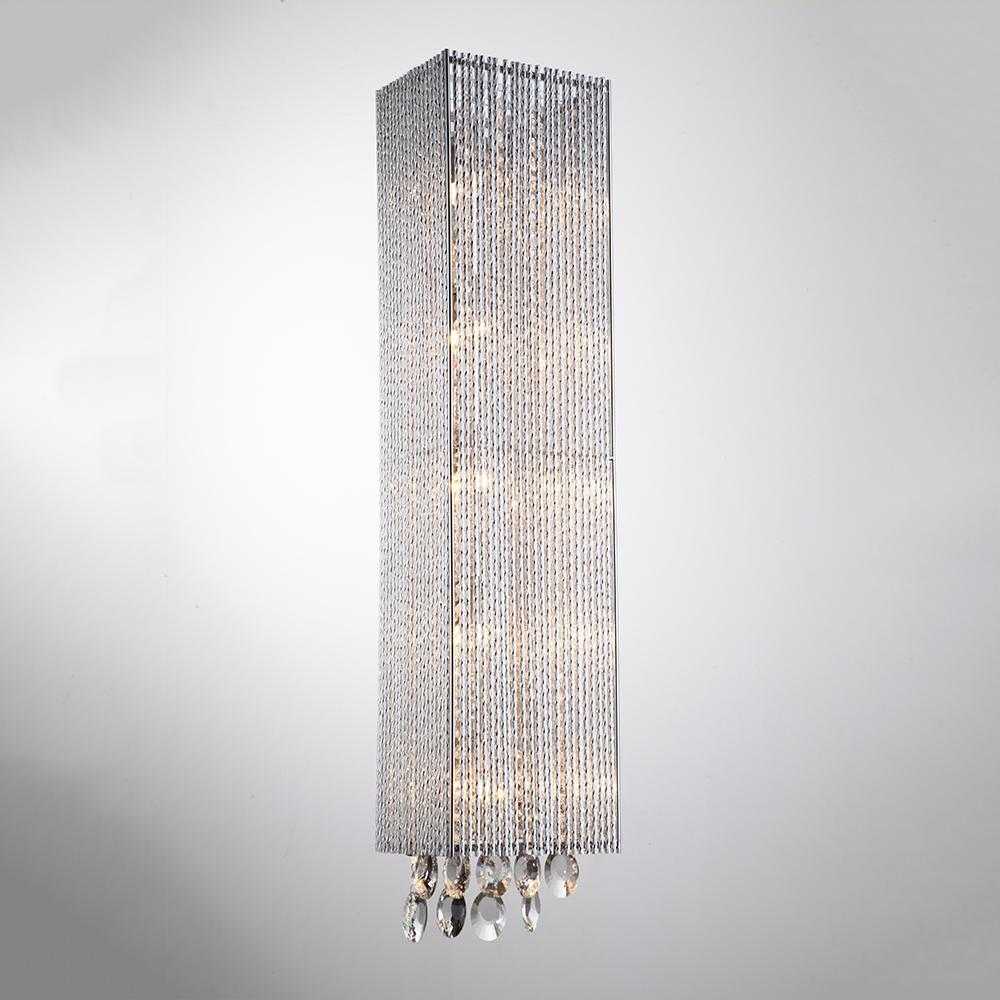 Wall Sconce Crystalline 5 Light Square Wall Scone