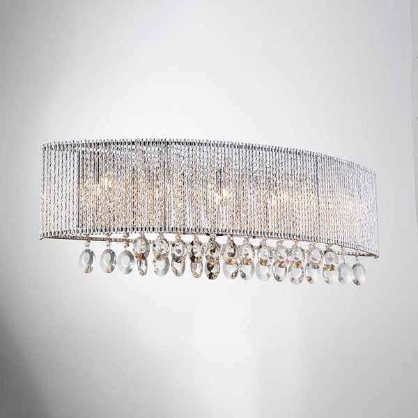 Wall Sconce Crystalline Round 5 Light Wall Sconce