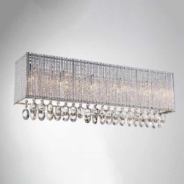 Wall Sconce Crystalline Square 5 light wall sconce