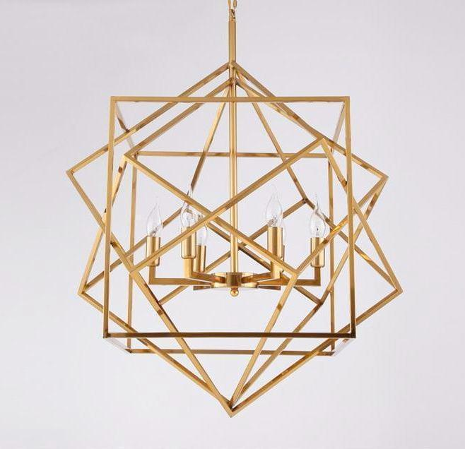 Buy Cube Cube Three Gold Cubes Gold Cage Lamp