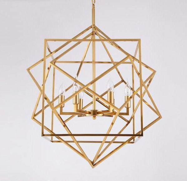 CUBE CUBE Modern Geometric Metal Pendant Light at Lifeix Design