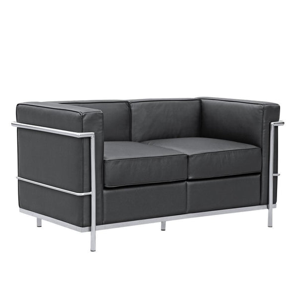 Black Cube Lc2 Petit Loveseat