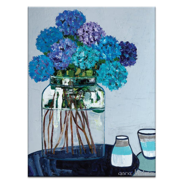 "Artwork 30x40x1.5"" Daile's Hydrangeas Artwork by Anna Blatman"