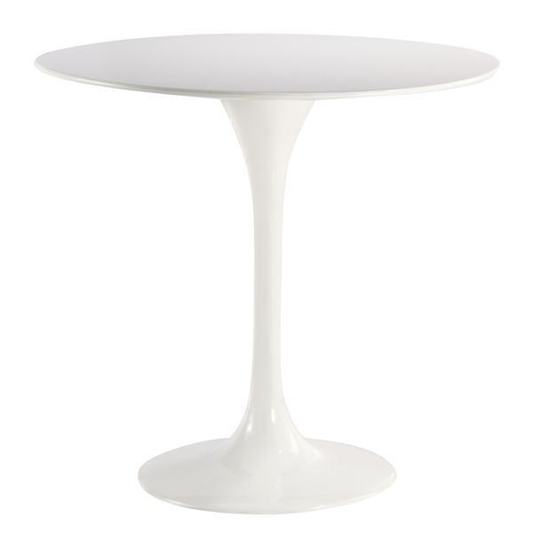 "table Daisy 40"" Fiberglass Dining Table in White"