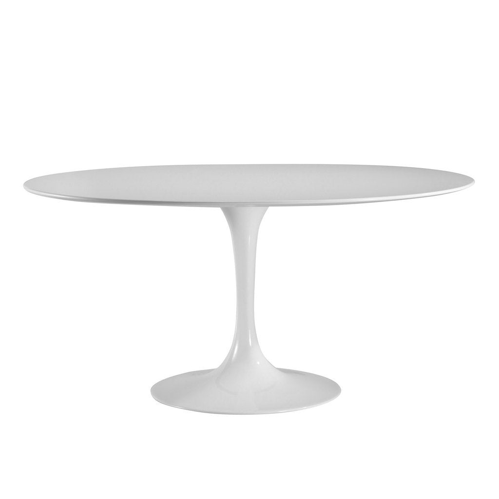 "table Daisy 60"" Oval Wood Top Dining Table in White"