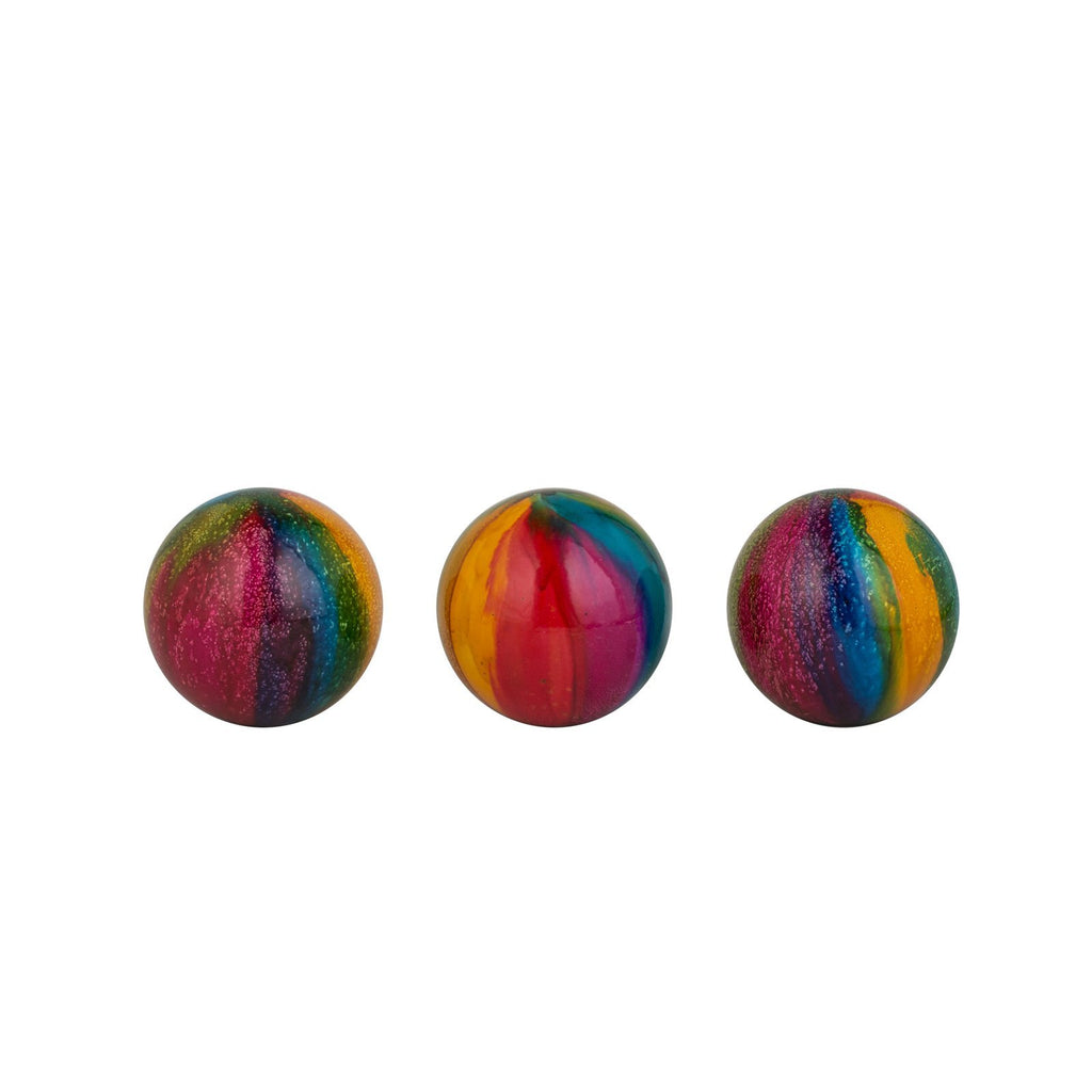 Multi-Color Decorative Handmade Color Spheres- Set of three