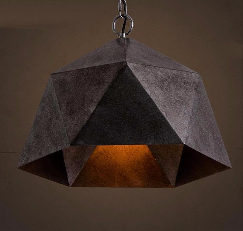 Buy retroindustrial style pendant light solid iron hanging lamp diamond shape industrial iron pendant light at lifeix design aloadofball Choice Image