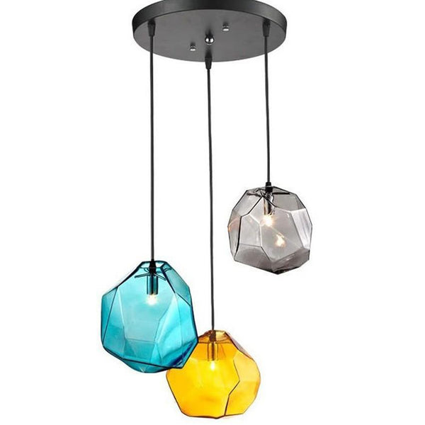 Diamond Shape Modern Colorful Glass Pendant Lights at Lifeix Design