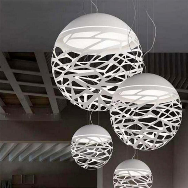 Engineering White Ball Modern Pendant Light at Lifeix Design