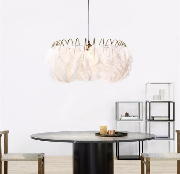 Feather Modern Luxury Chandelier at Lifeix Design