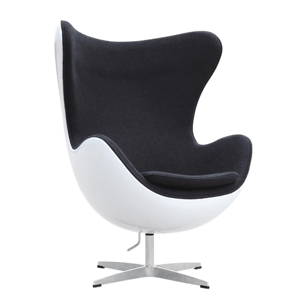 Black Fiesta Fiberglass Chair In Wool