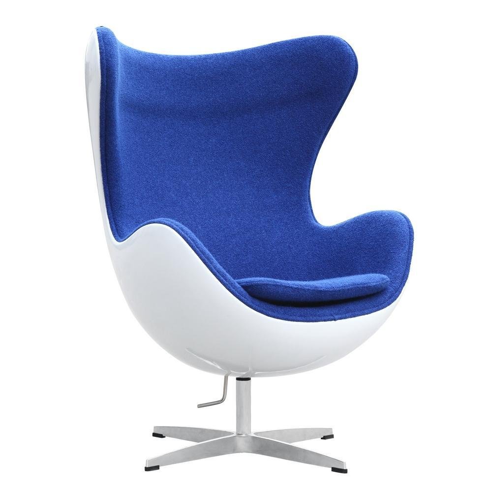 Blue Fiesta Fiberglass Chair In Wool