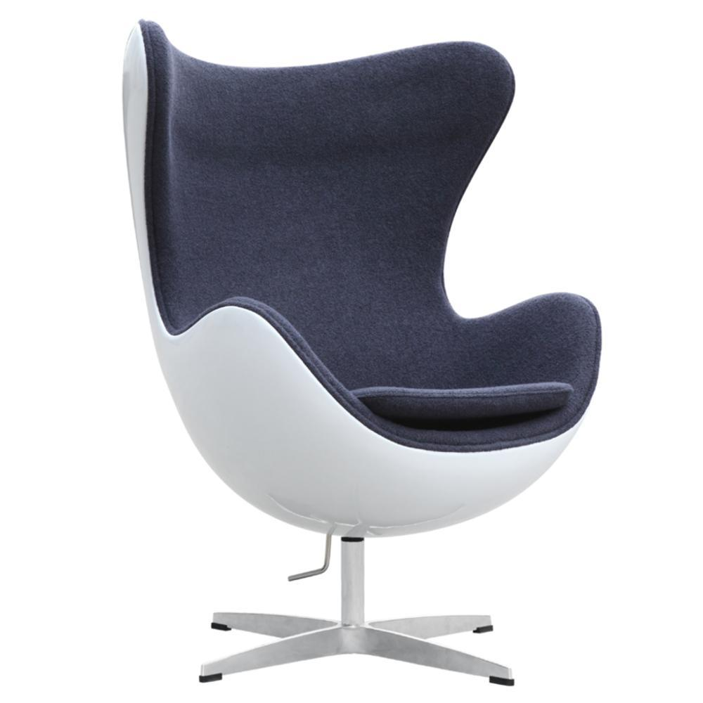 Gray Fiesta Fiberglass Chair In Wool