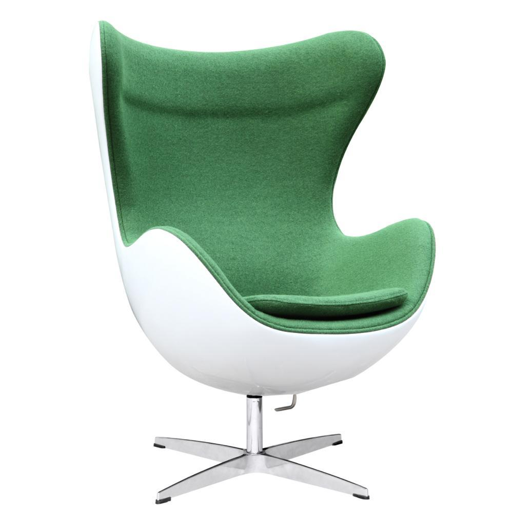 Green Fiesta Fiberglass Chair In Wool