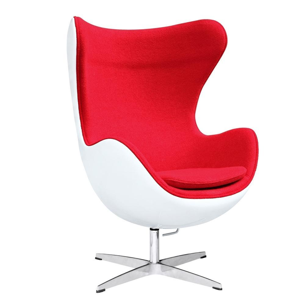 Red Fiesta Fiberglass Chair In Wool