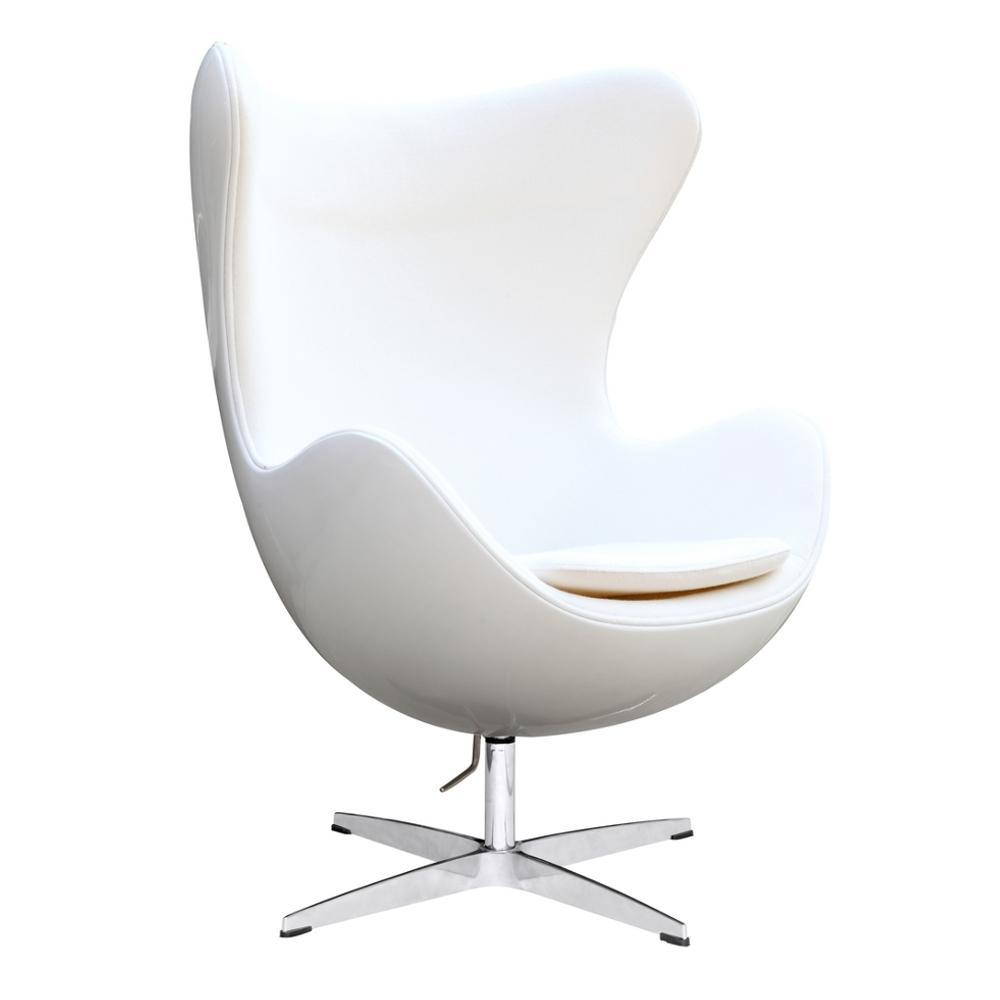 White Fiesta Fiberglass Chair In Wool