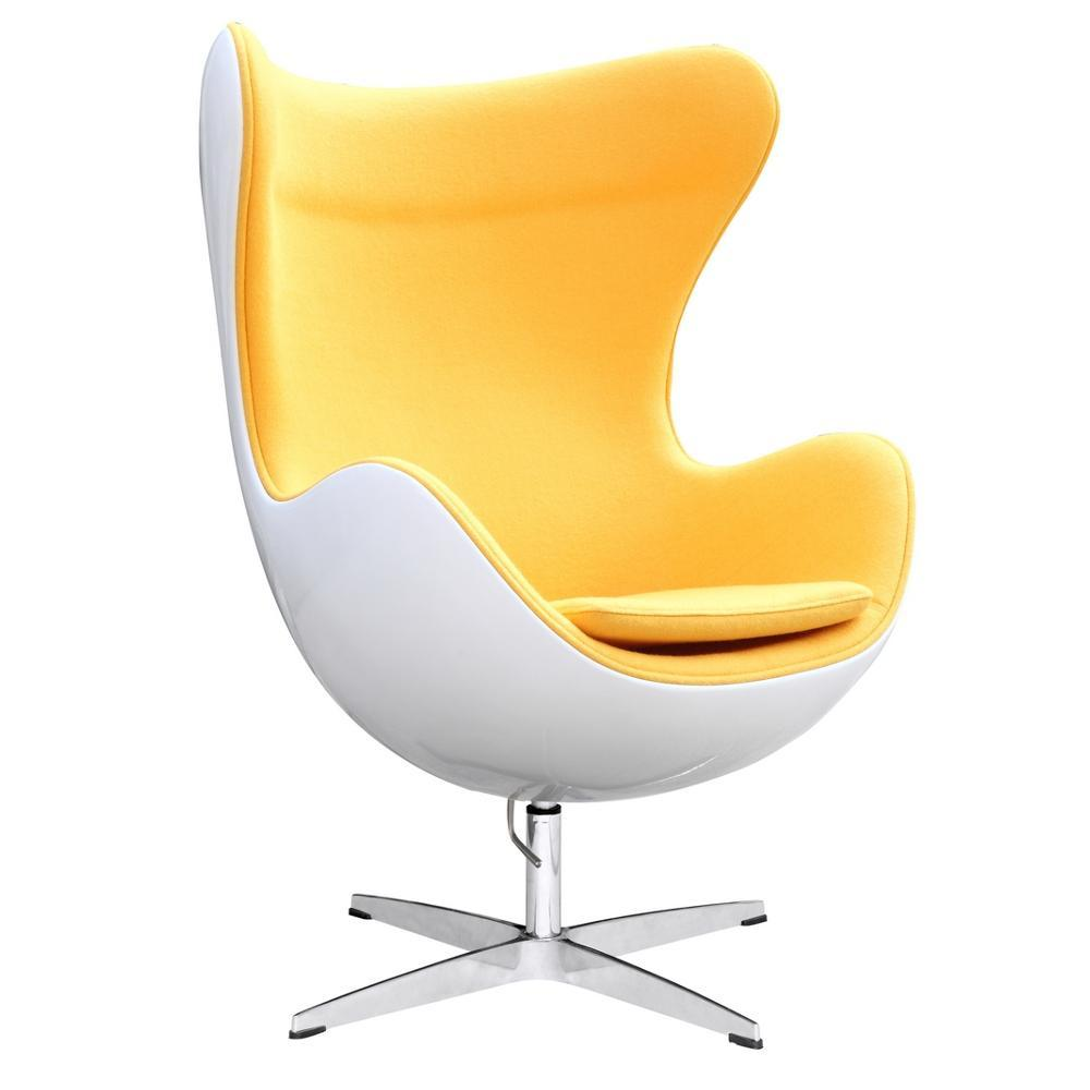 Yellow Fiesta Fiberglass Chair In Wool