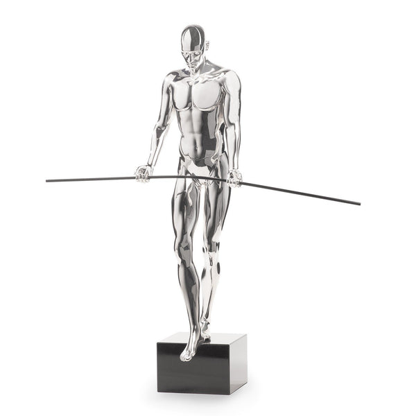 Finesse Décor- Balancing Man Sculpture- Chrome