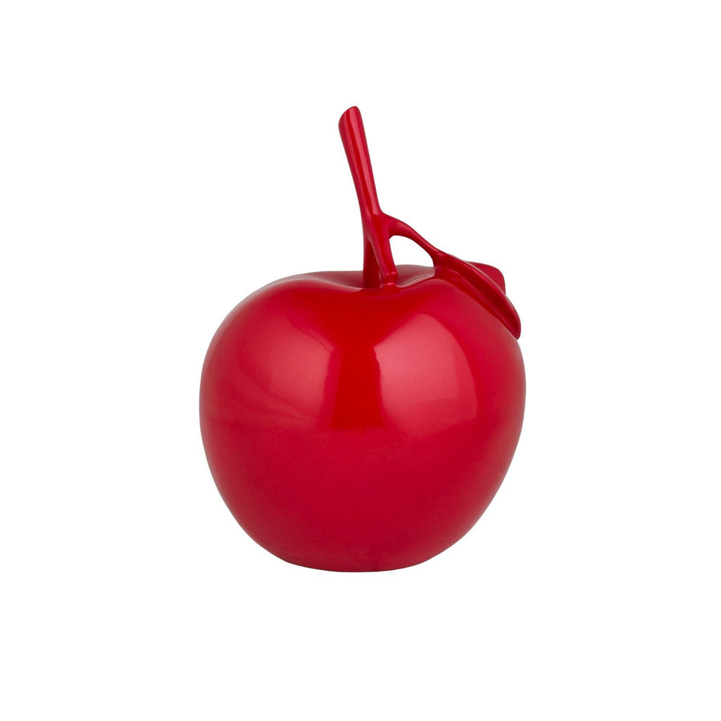 Finesse Décor- Resin Apple Sculpture- Red