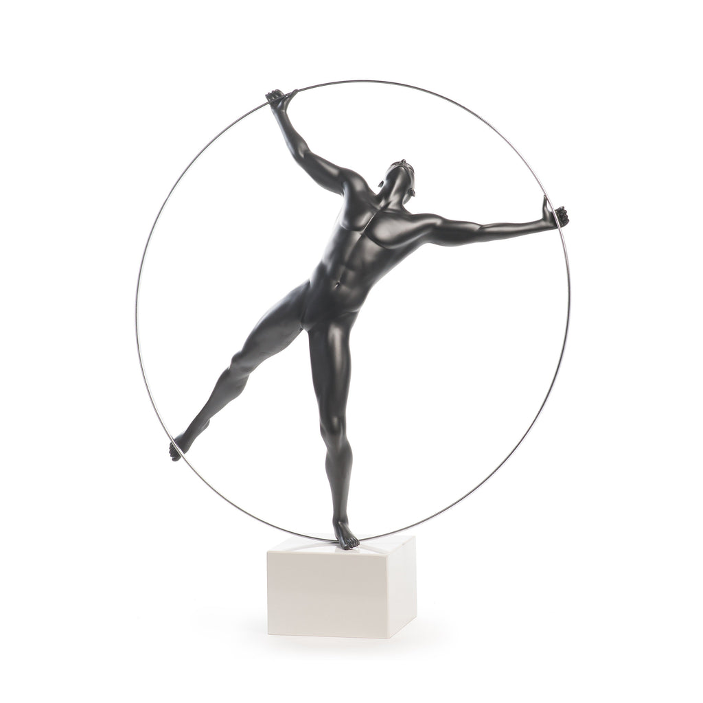 Finesse Décor- Ring Man Sculpture- Black