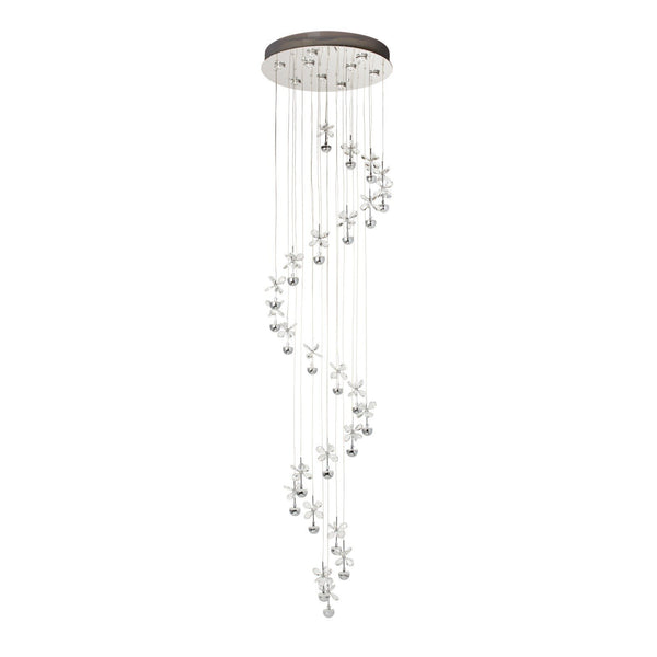 Finesse Lighting-Crystal Mariposa Spiral -  Flush Lamp