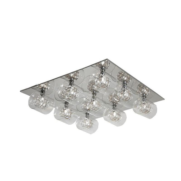Finesse Lighting- Crystal Wall Grand Flush