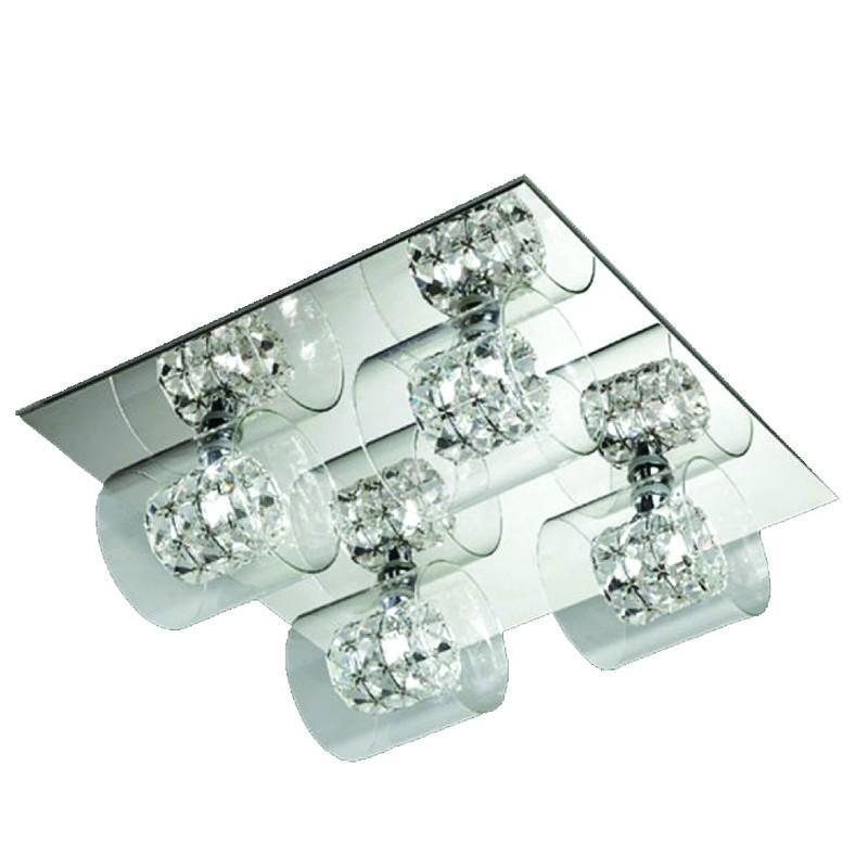 Finesse Lighting- Crystal Wall Petit Flush